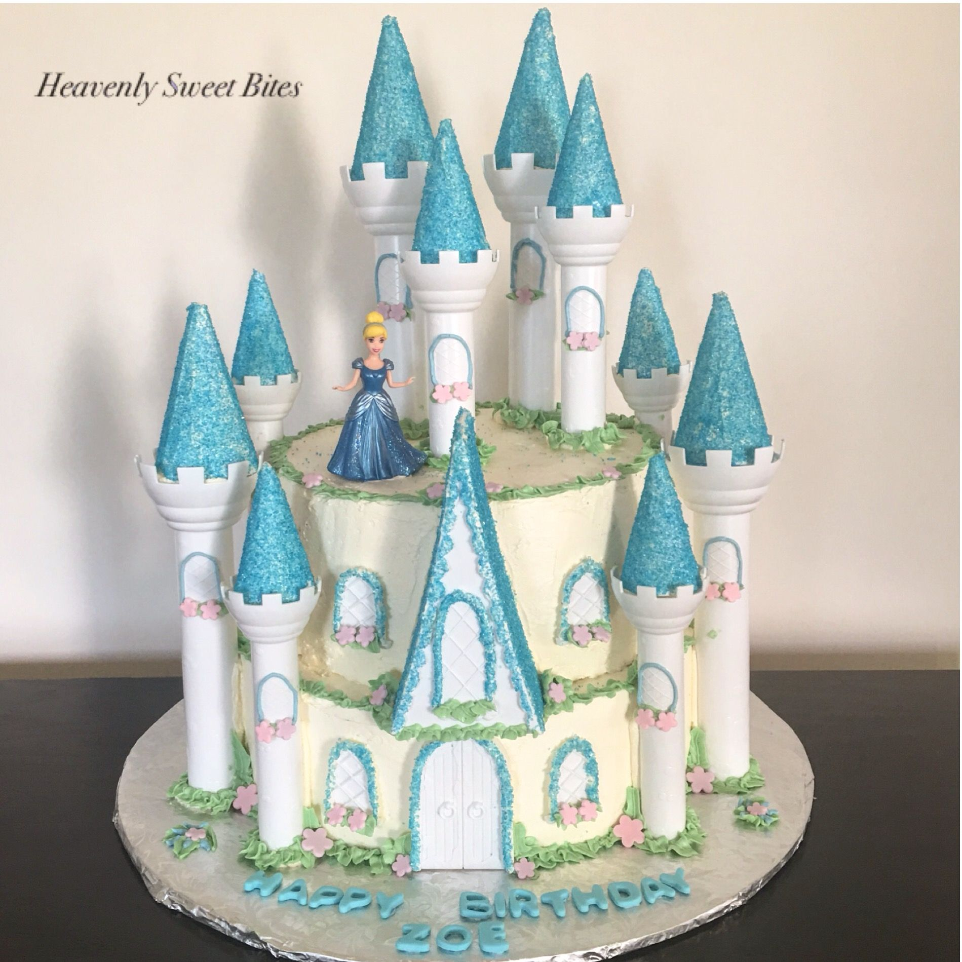 Cinderella Castle Birthday Cake By Heavenly Sweet Bites By