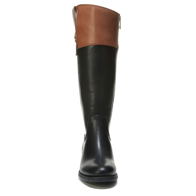 9802f2ce05f Tommy Hilfiger Women s Shano Wide Calf Boots (Black Tan)
