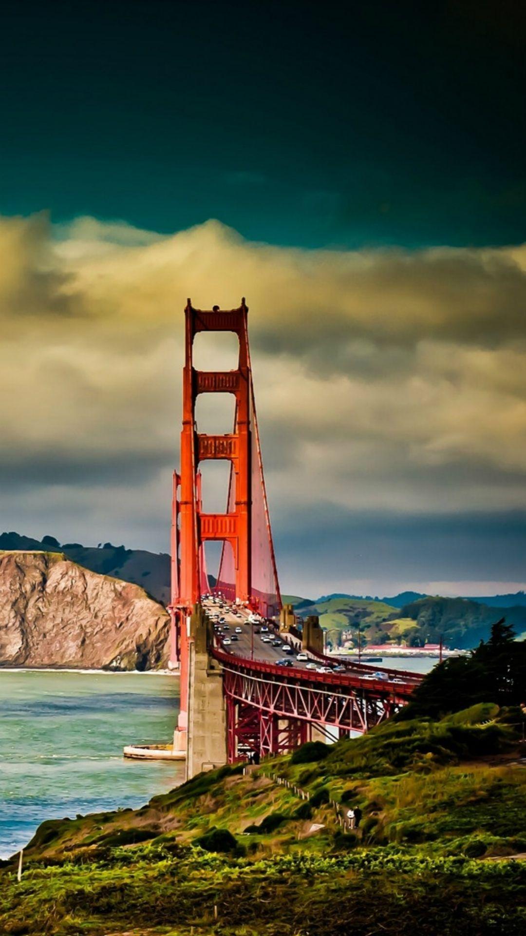 San Francisco Bridge Mountain Landscape Iphone 8 Wallpapers With Images San Francisco Bridge Bridge Wallpaper Golden Gate Bridge