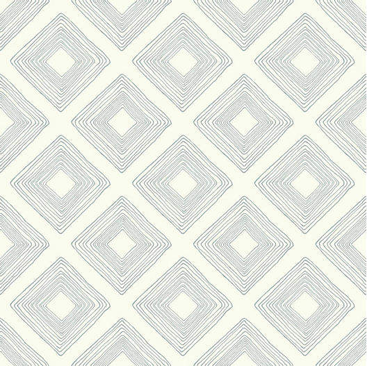 Diamond Sketch Wallpaper, Cream/Green in 2020 (With images