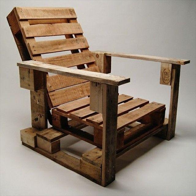 Terrassenmöbel Lounge Europaletten Sessel Idee