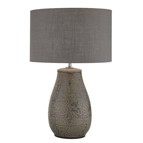 Heer 60cm Table Lamp Bungalo Rose Lamp Grey Table Lamps Touch