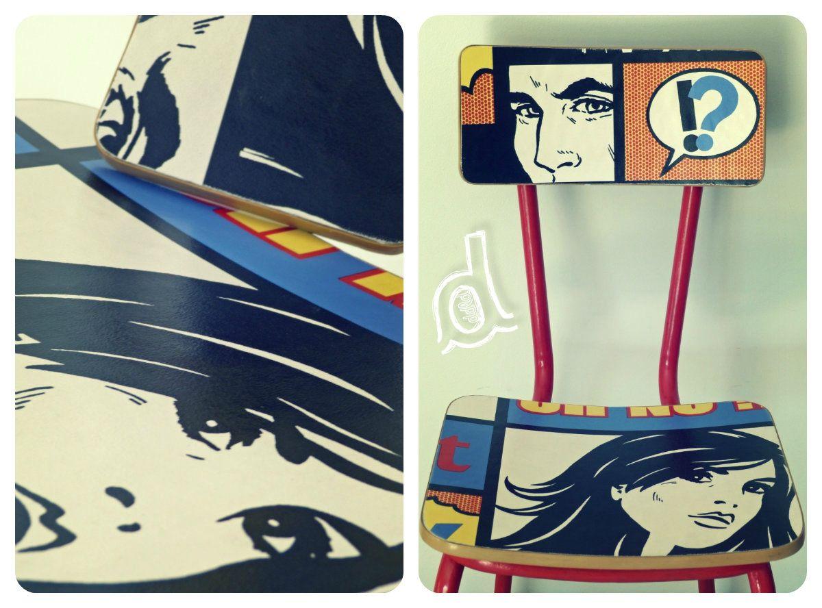 Rnovation Chaise En Formica Pop ArtArmchairsChairs