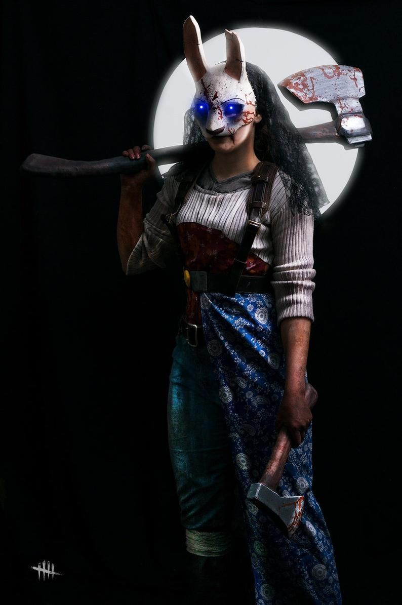 Dead By Daylight Huntress Mask Cosplay Etsy In 2021 Huntress Cosplay Dead