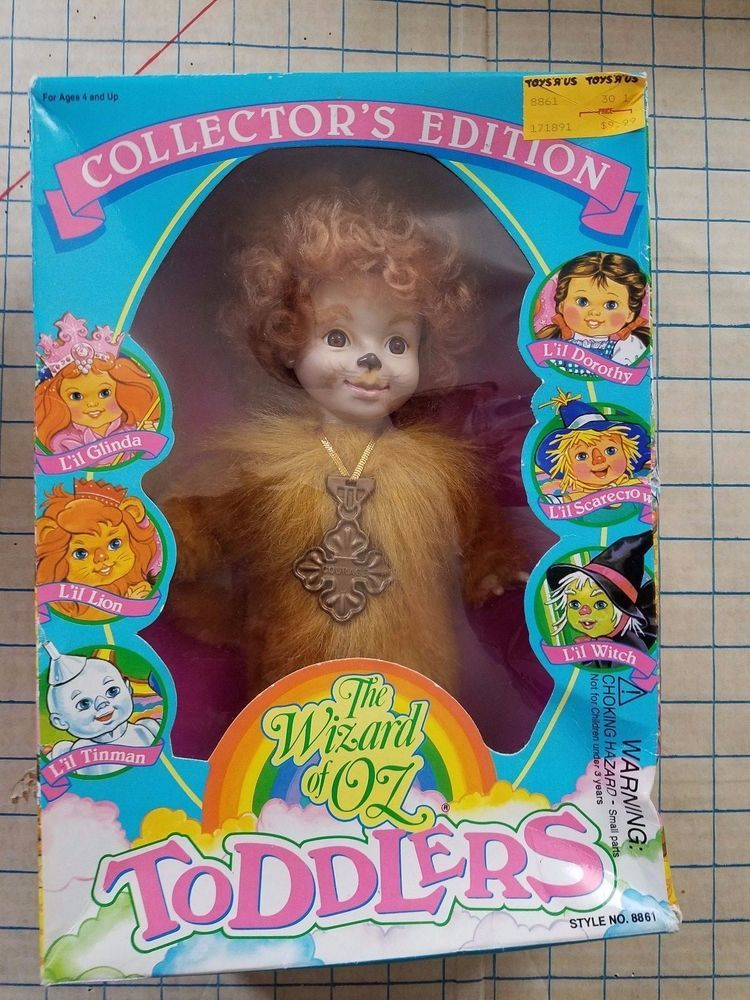 Lil Lion Collectors Edition The Wizard of Oz Toddler's  1993 Sky Kids w Box