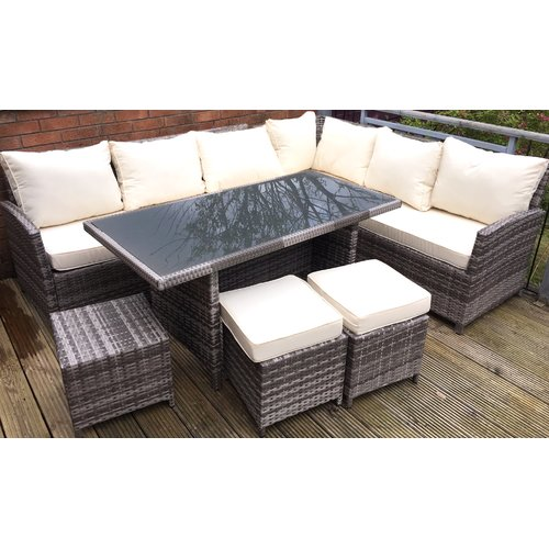 Sol 72 Outdoor 9 Seater Rattan Corner Sofa Set Corner Sofa Set Rattan Corner Sofa Sofa Set