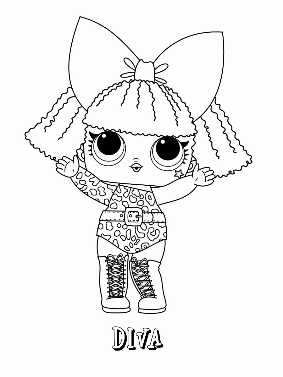 Lol Dolls Coloring Page New Lol Surprise Coloring Pages in ...