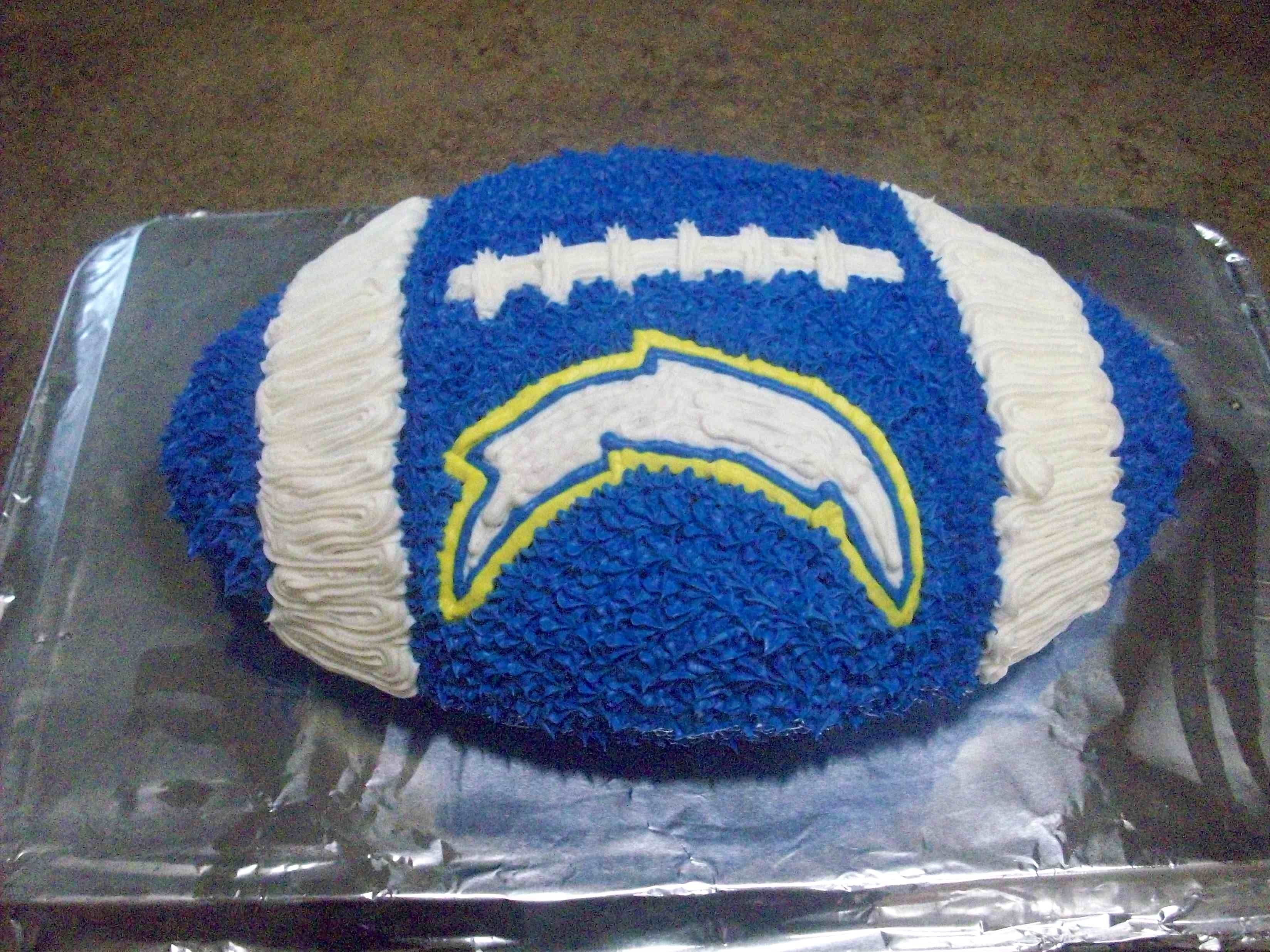 San Diego Chargers Football Cake Grooms Cake David Pinterest