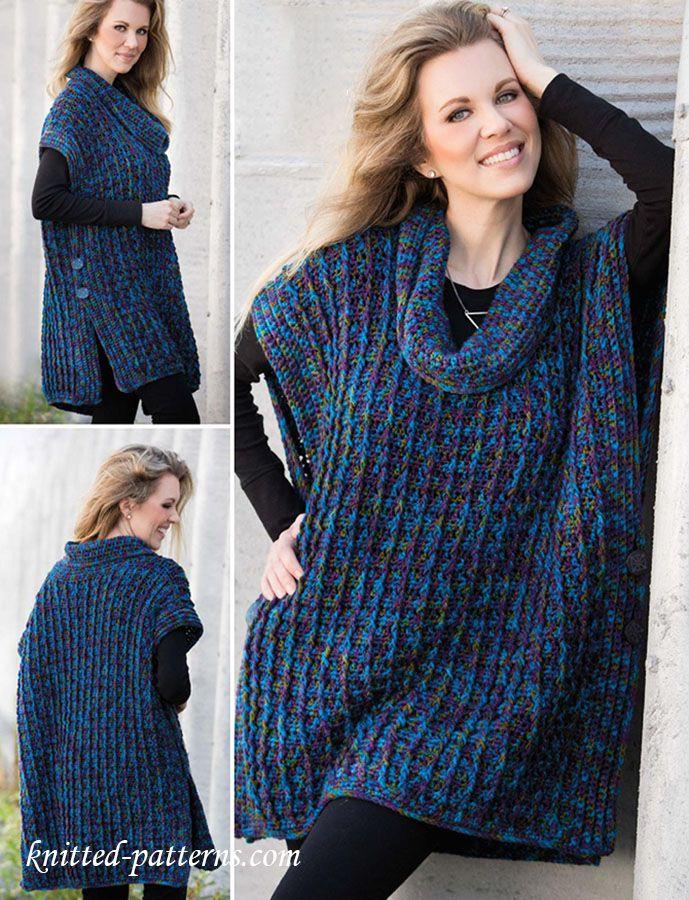 Poncho Crochet Pattern Free Crocheting Pinte