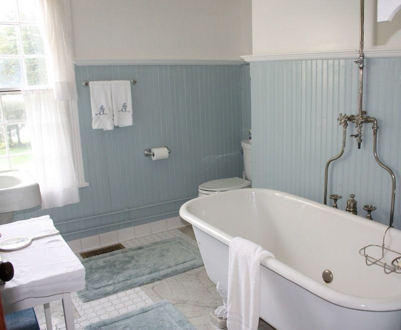 salle de bain rtro carrelage meubles et dco en 55 photos - Hauteur Carrelage Salle De Bain