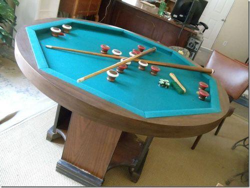 Octagon Bumper Pool Table Pool Table Ideas Pinterest Bumper