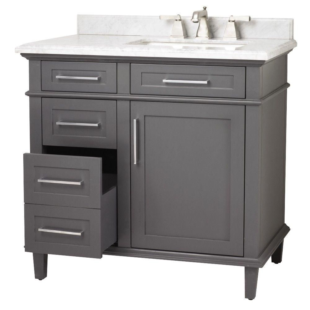 45 Bathroom Vanity Home Depot: Home Decorators Collection Sonoma 36 In. W X 22 In. D Bath
