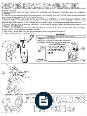 Auto Estima Com Imagens Ensino Religioso Avaliacao De Ensino