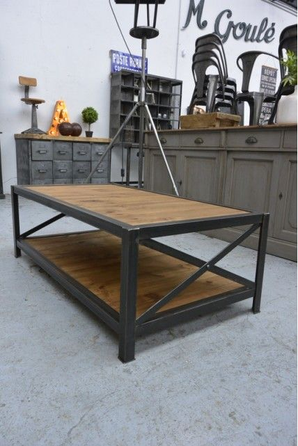 Fabrication Table Basse Industrielle Fabriquer Une Table Basse Fabrication Table Table Basse Industrielle