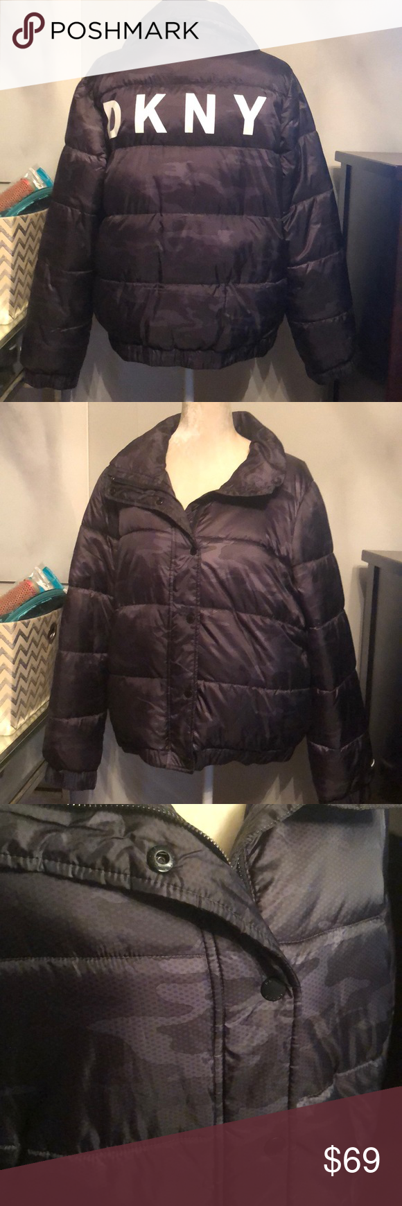 Dkny Sport Camo Puffer Coat Puffer Coat Dkny Clothes Design [ 1740 x 580 Pixel ]