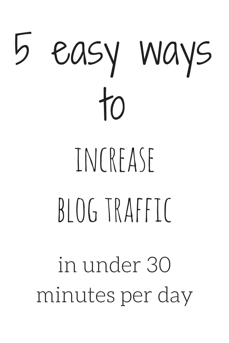 Easy Ways To Increase Blog Traffic Over Night Increase Blog