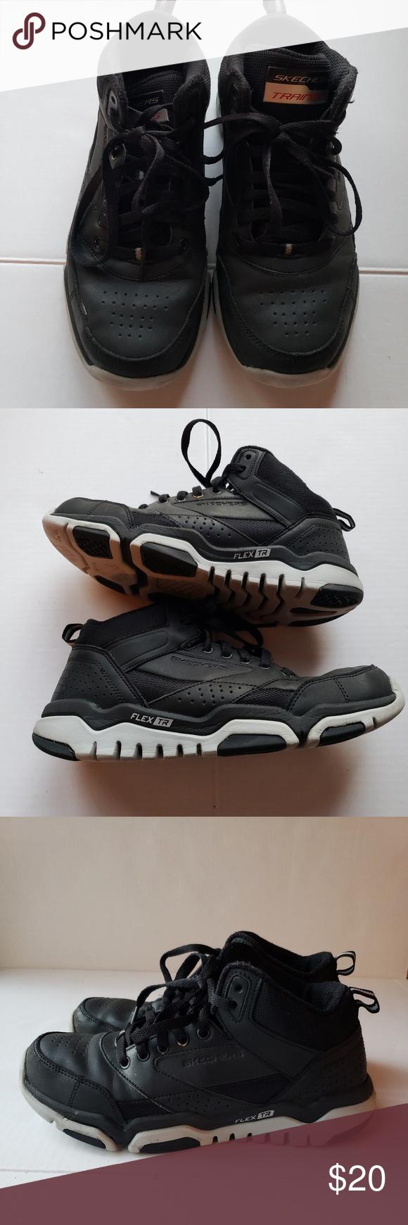 Men Skechers Flex TR blackgray Training Shoes sz7 Men