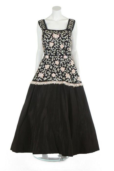 Molyneux evening dress ca. 1955-57