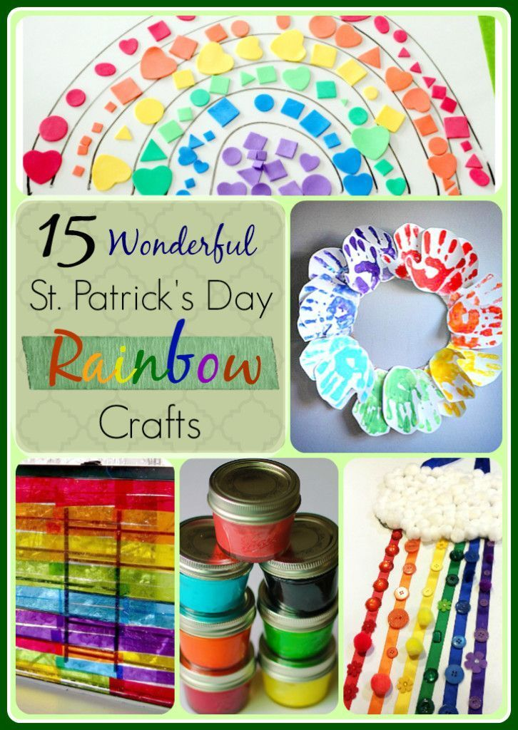 15 Rainbow Crafts for Kids!  Rainbow Crafts are great to do with preschoolers and children during St. Patrick's Day, birthday parties and in the spring time.