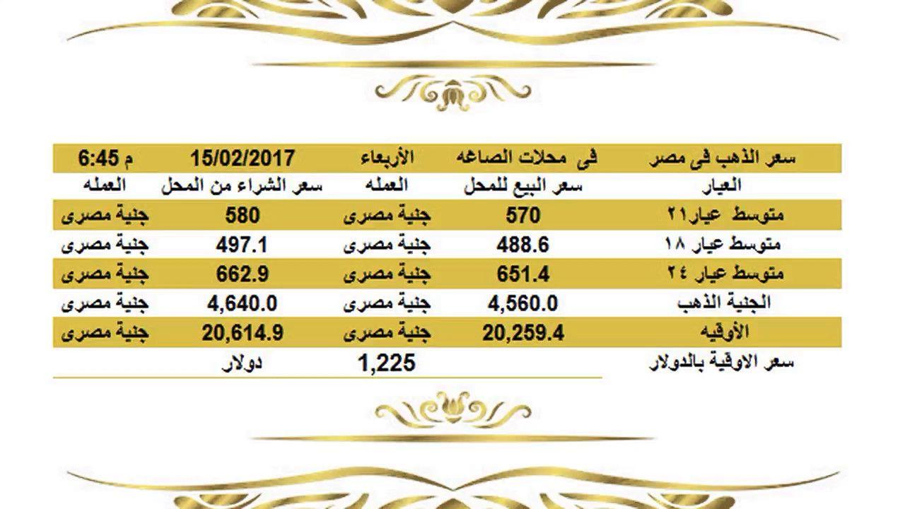 سعرالذهباليومفيمصرالاربعاء1522017عيار21وعيار18وعيار24الساعة7 00مساء اسعار الذهب اليوم فى مصر تحديث يومي اسعار الذهب فى مصر أسعار الذهب الي Jye Gold Rate Bula