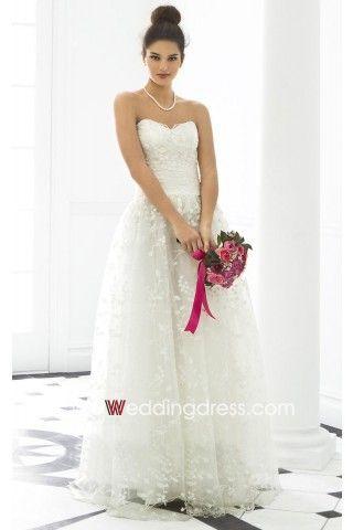 Best Celestial Lace Detail Sweetheart Tulle Bridal Gown $144.41 woweddingdress.com
