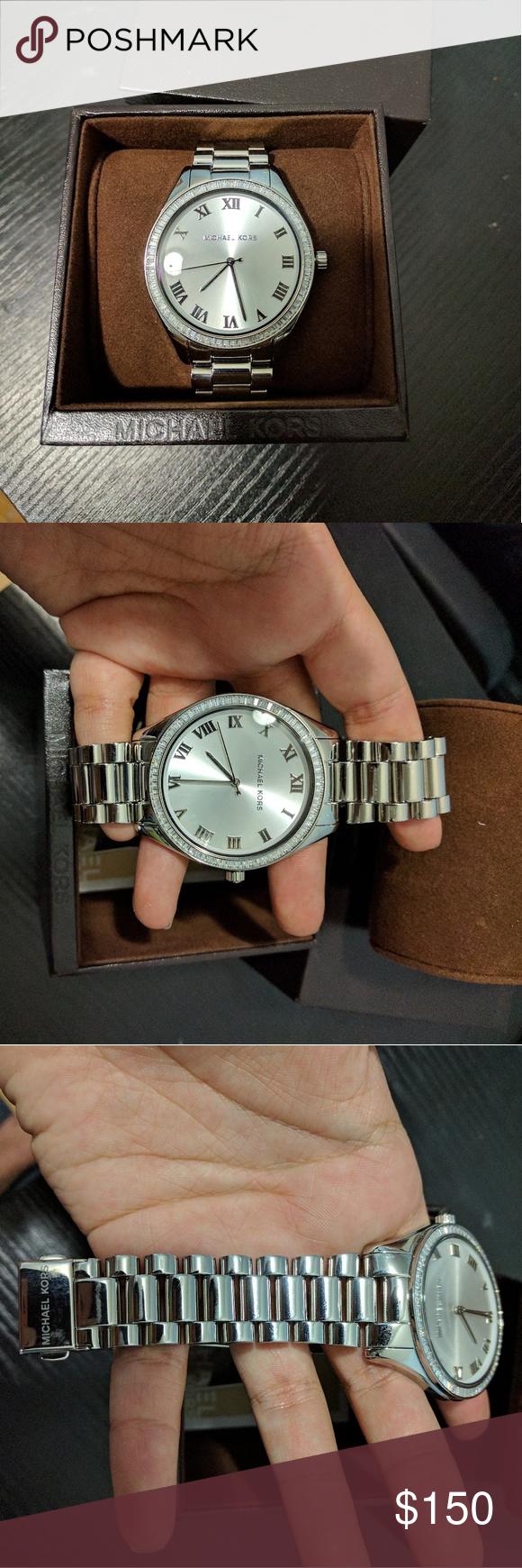 c4404d09480a Michael Kors Blake Silver Tone Watch Style    MK3243W Case size  41.5 mm  Case