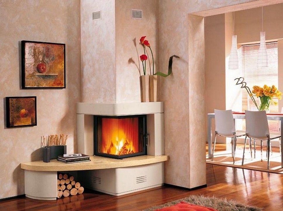 Corner Wood Burning Fireplace Inserts