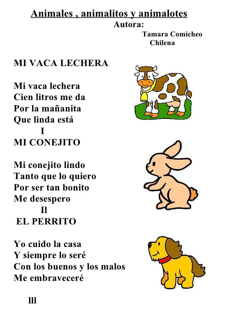 Letra de canciones infantiles animales buscar con google - Letras infantiles para puertas ...