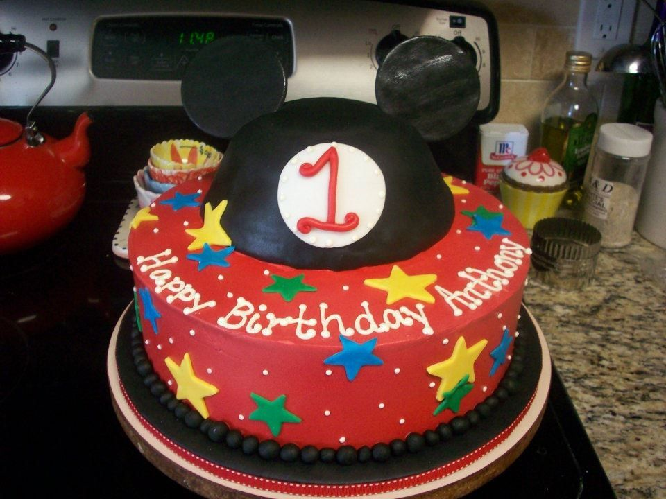 Mickey Mouse 1st Birthday Cake Cakelins Cakes And Cookies Charlotte
