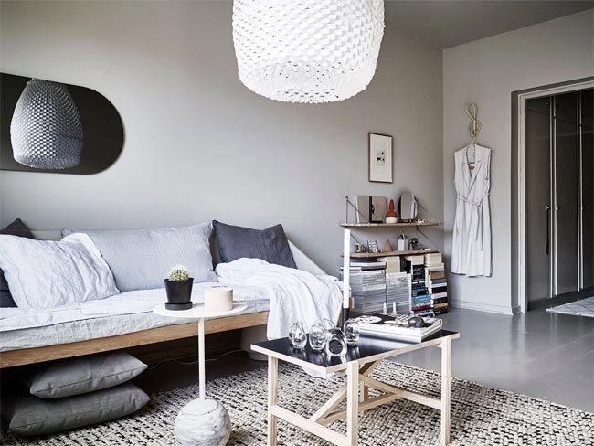 Un peque o apartamento con mucho estilo n rdico para m s - Cama estilo nordico ...