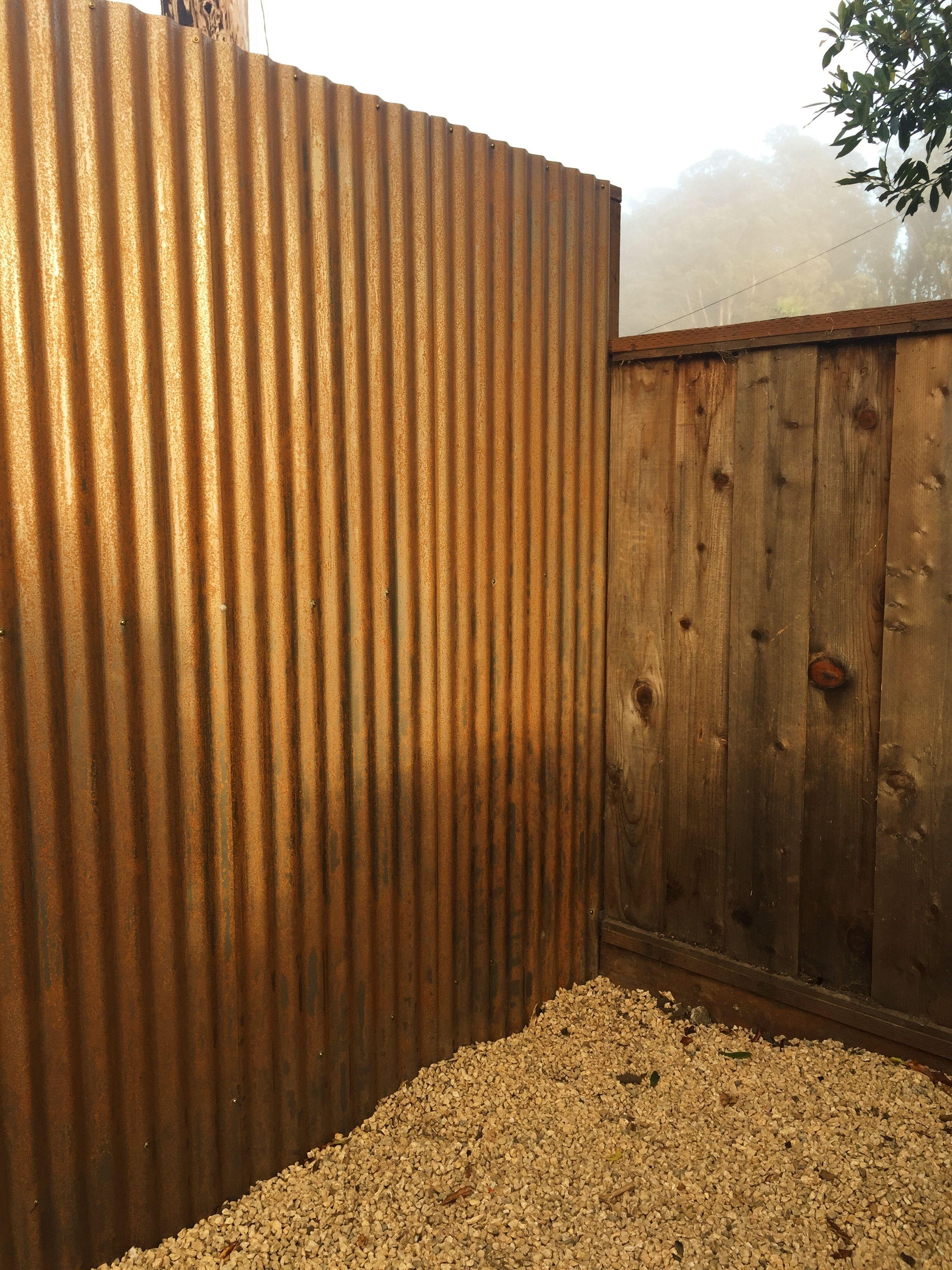7 Cor Tin Rusting Metal Fence Interior Vallas