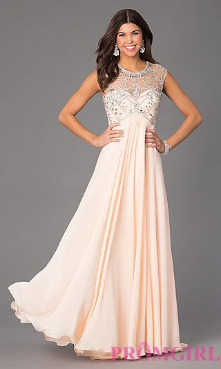Floor Length Scoop Neck Dave and Johnny Dress. Shop the look: http ...