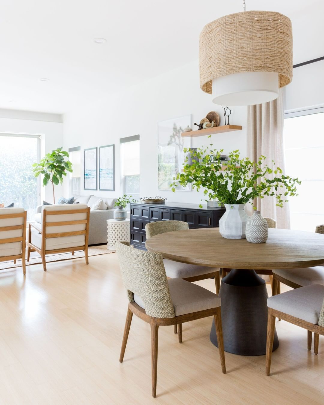 "Casual Dining Room Decor Ideas: Lindsey Borchard On Instagram: ""The Dining Room Needed To"