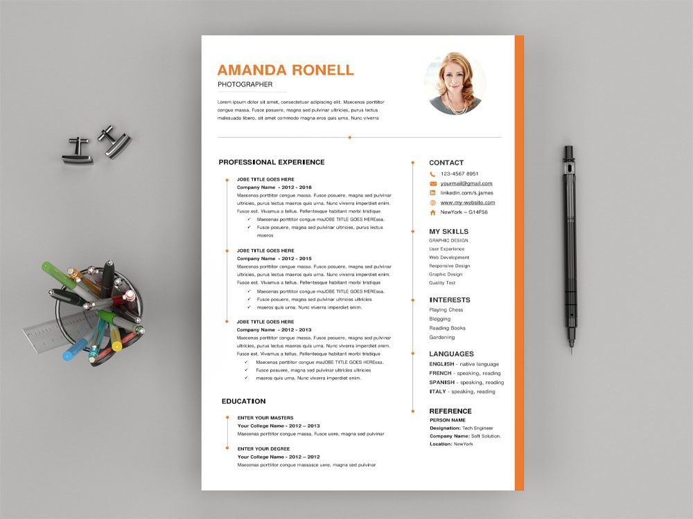 Free Timeline Microsoft Word Resume Template (With images