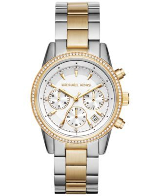 87a7a56a395 Women s Chronograph Ritz Two-Tone Stainless Steel Bracelet Watch ...