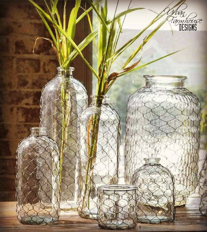 #UFDlove these Vintage Wire Vases. #UFD #urbanfarmhousedesigns