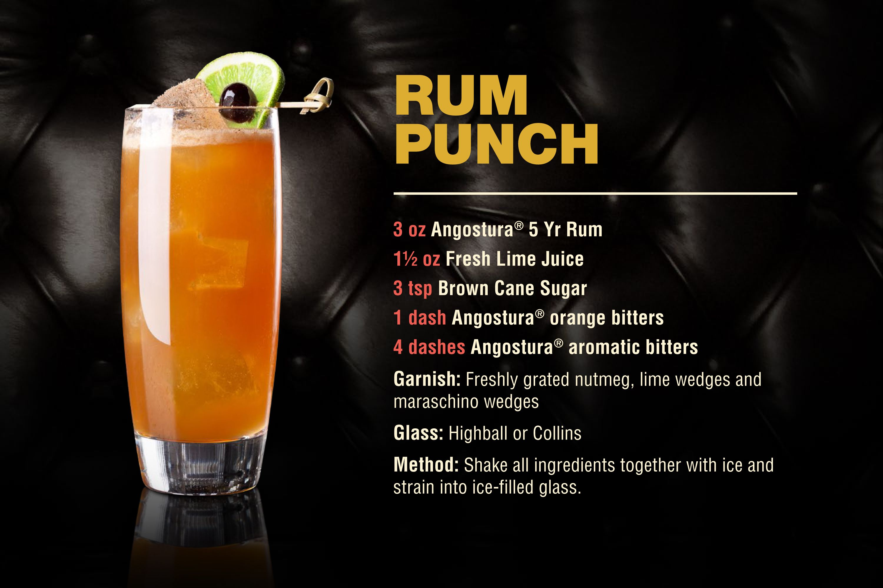 Rum punch recipes easy