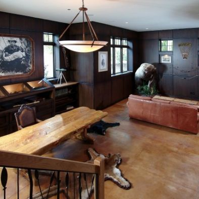 Hunting Or Outdoorsman Themed Man Cave Man Cave Design Man Cave Home Bar Traditional Family Rooms