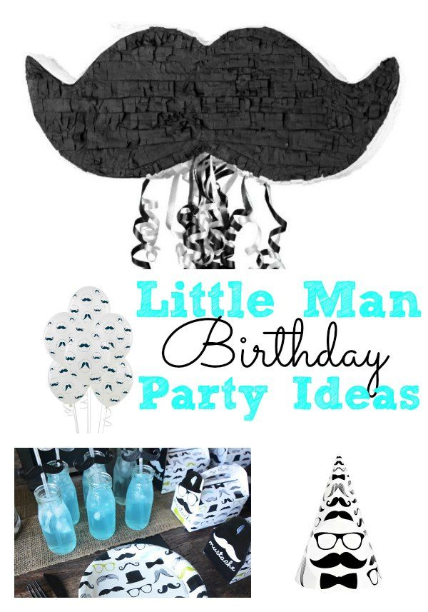 Little Man Birthday Party Ideas for Boys Men birthday parties
