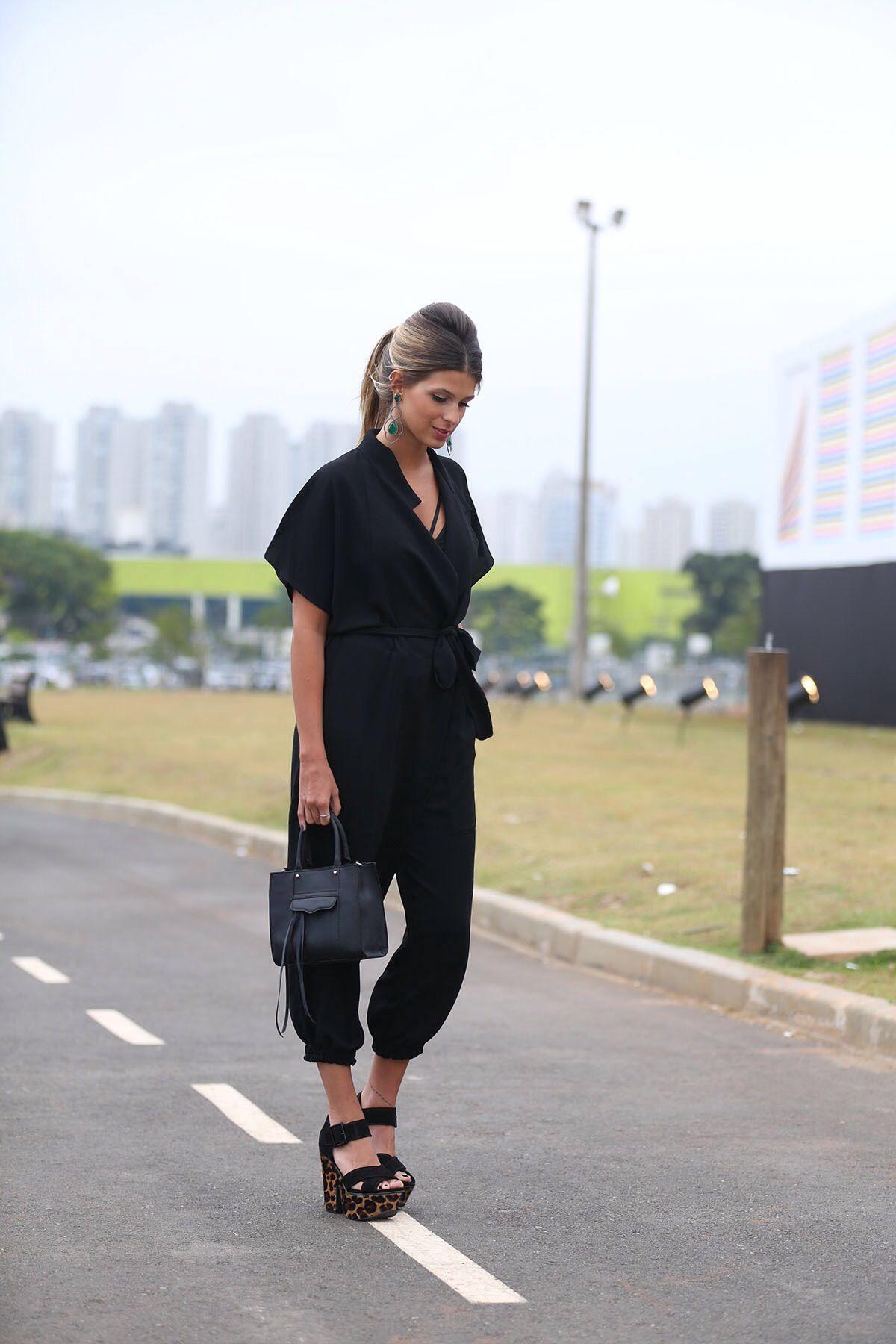 anna-fasano-macacao-preto-03   Inspiração Look do Dia   Style, Anna ... 10a9533a35