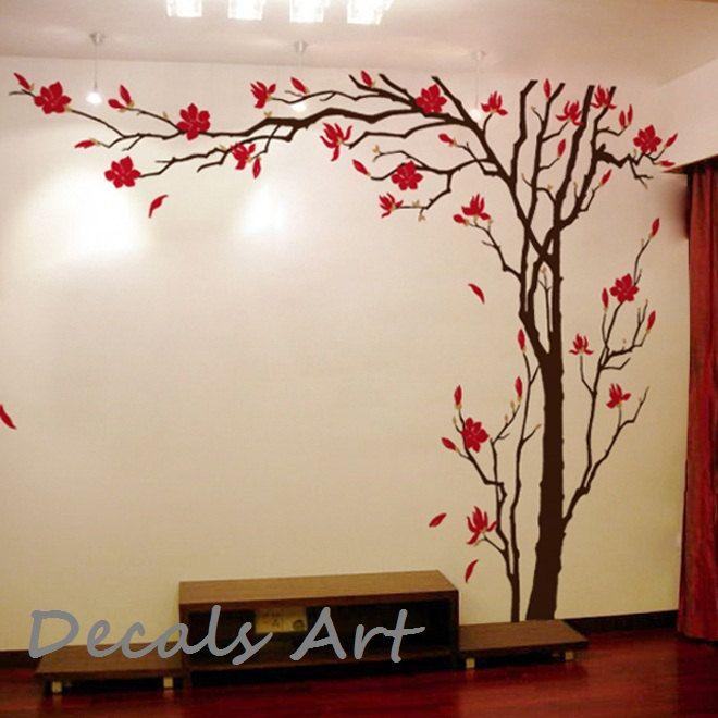 Summer Tree - Vinyl wall sticker- wall decal- tree decals ...