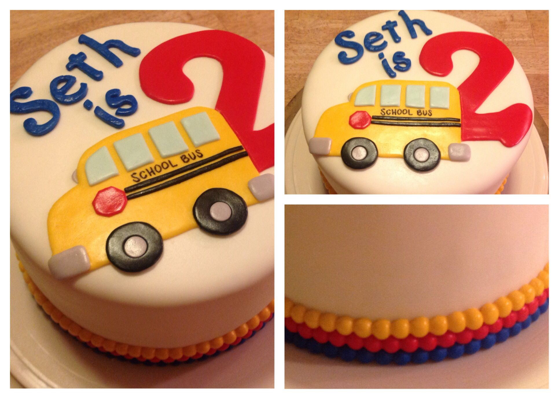 Seths School Bus Birthday Cake This Is A Surprise On The Inside