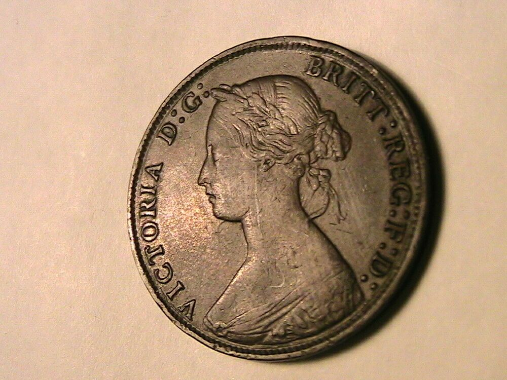 1865 Great Britain Half Penny Choice Xf Original Young Head Queen Victoria Portrait In Bronze 1 2 P British Uk Coin Coin Prices Penny 1 Penny
