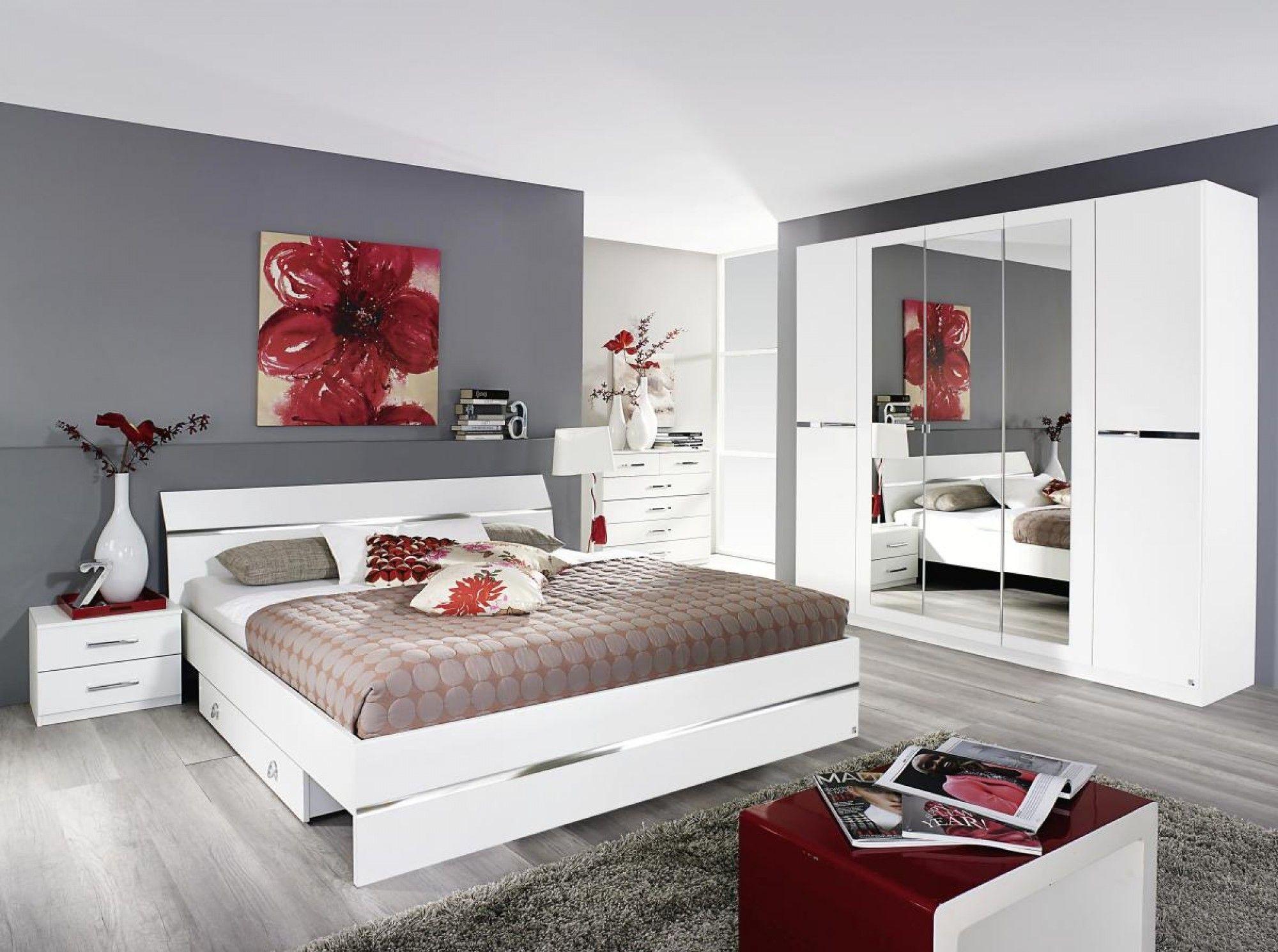 Drehtürenschrank Dorsten alpinweiß 226 cm | Home | Bett