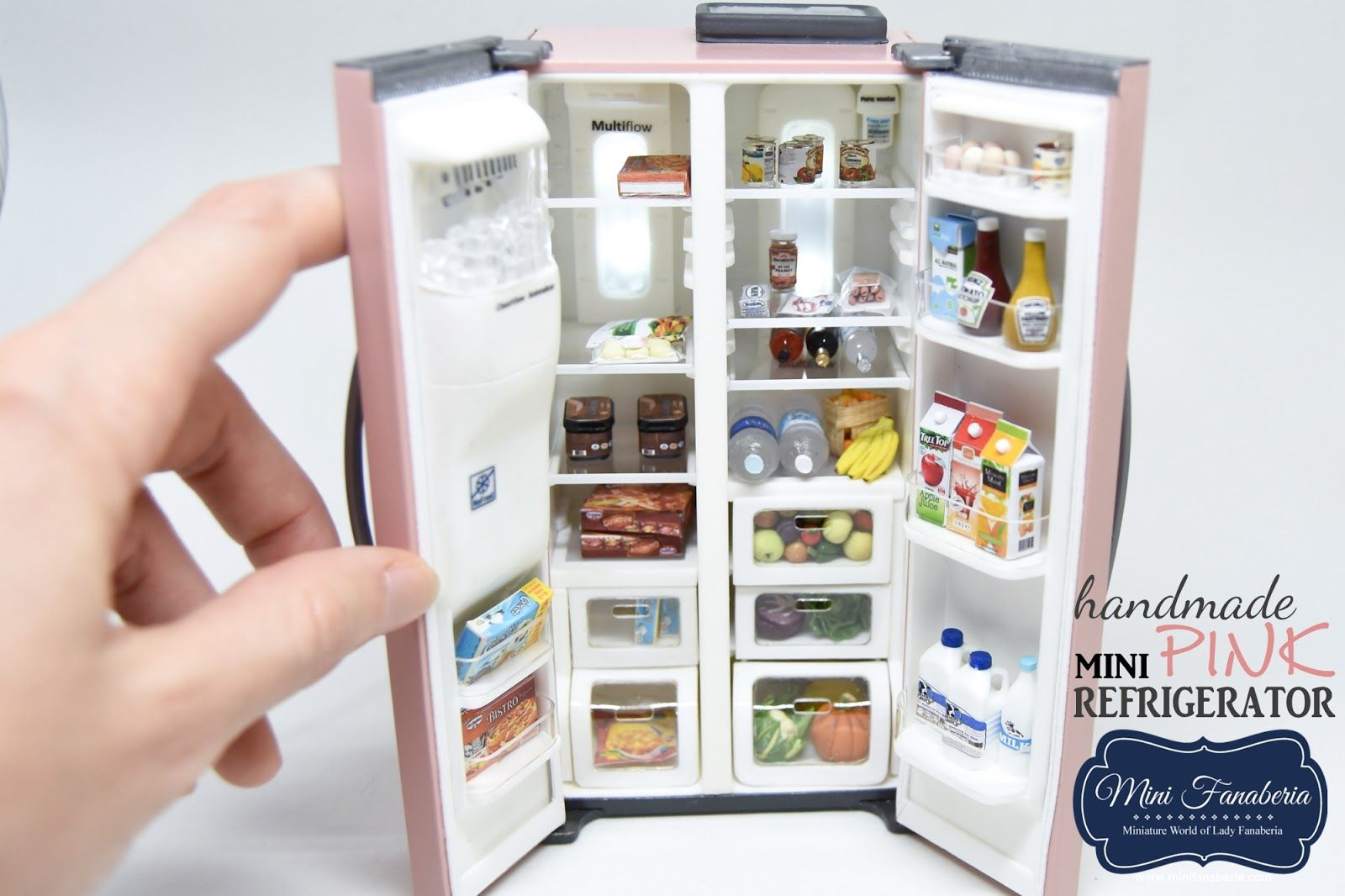 1//6 Fridge for  Dollhouse Miniature Kitchen Room Accessory