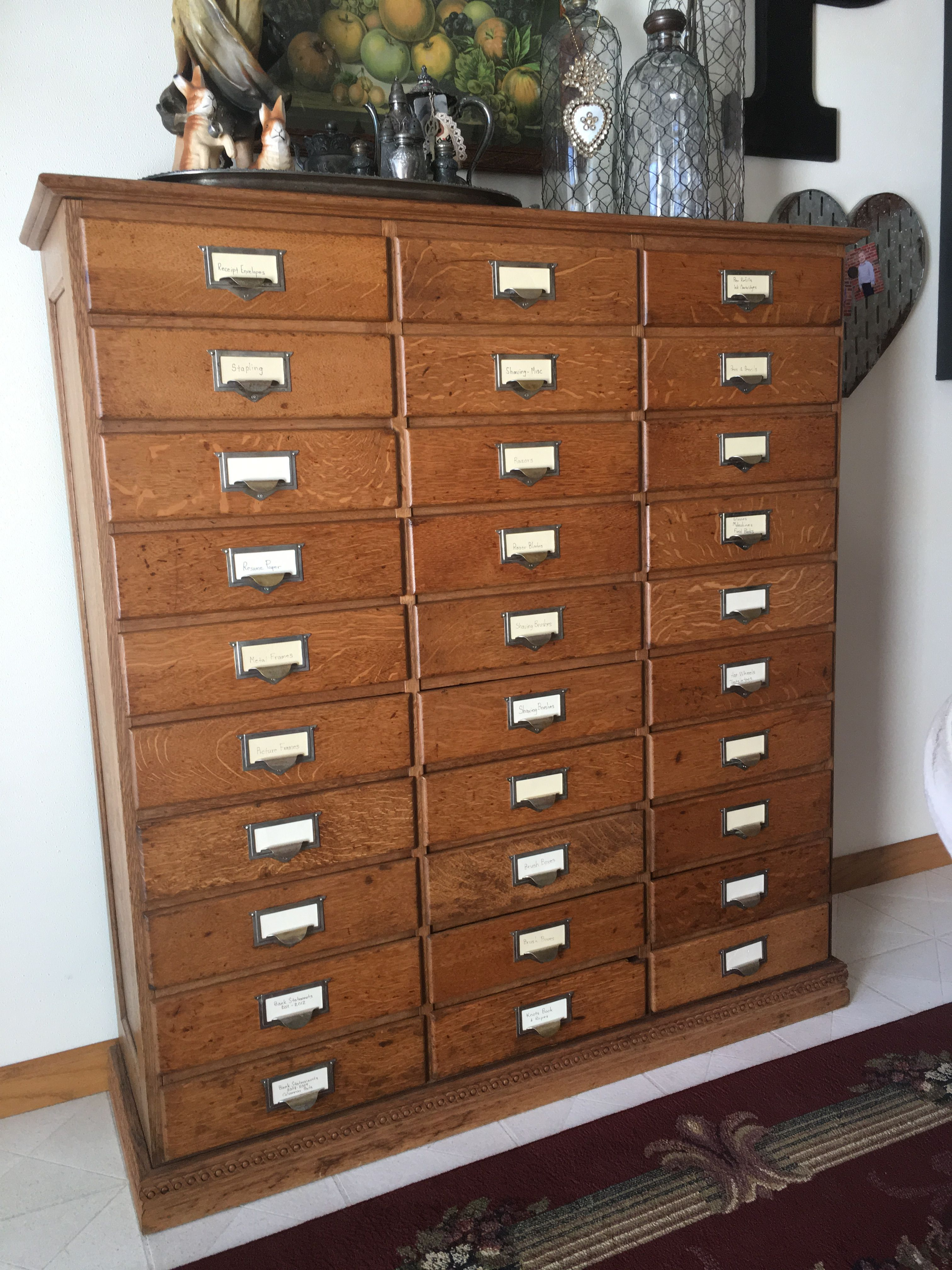 Vintage filing cabinet it now holds stuff cupboards and vintage filing cabinet it now holds stuff malvernweather Choice Image