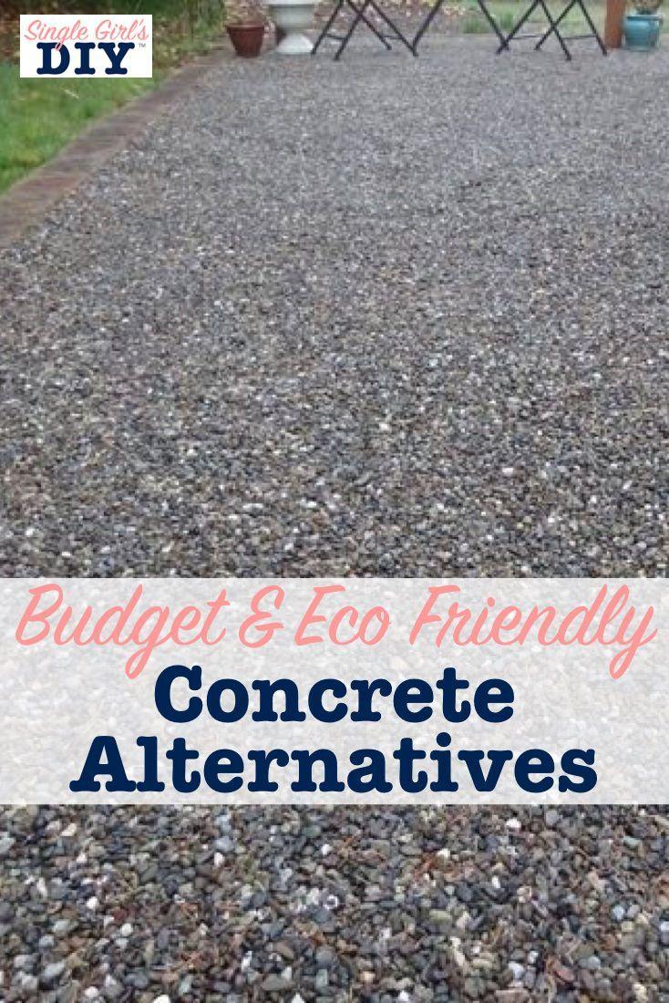 Budget und umweltfreundliche konkrete Alternativen #backyardmakeover