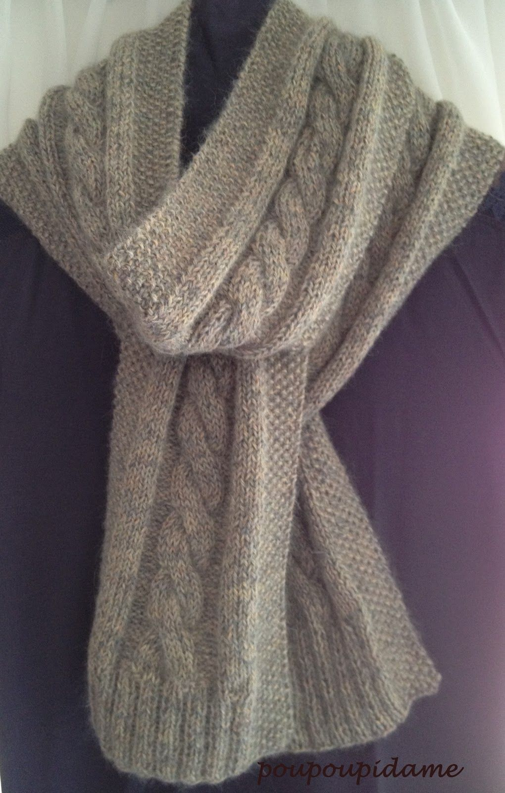 Modele echarpe tricot torsade   echarpe   Knitting, Tricot et Crochet ea401575b0f