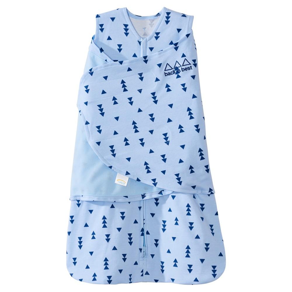 Halo sleepsack 100 cotton swaddle denim triangle nb