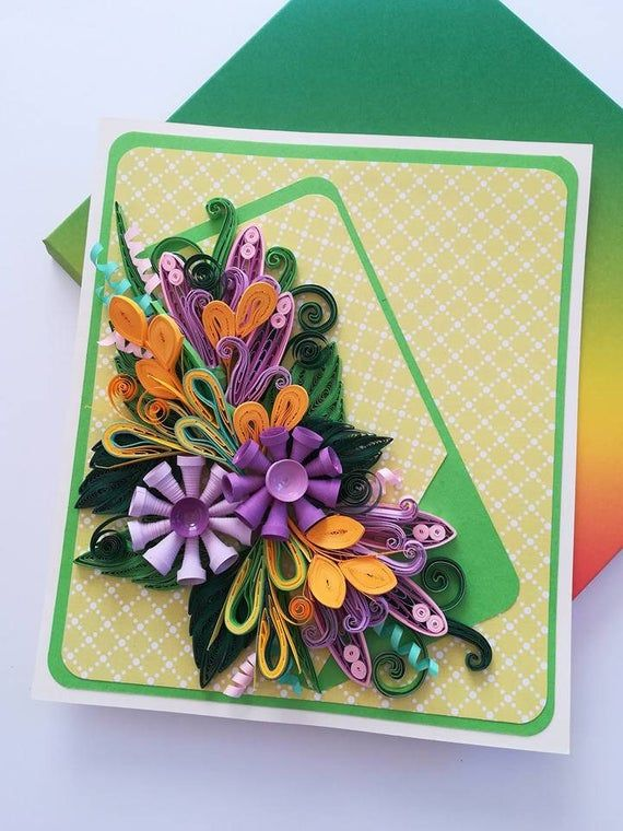 handmade paper quilling just because cards quilled